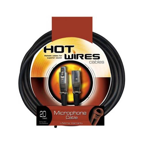 Hot Wires 20ft XLR to XLR Microphone Cable MC12-20