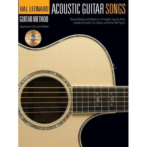 Hal Leonard Acoustic Guitar Songs Book  & CD