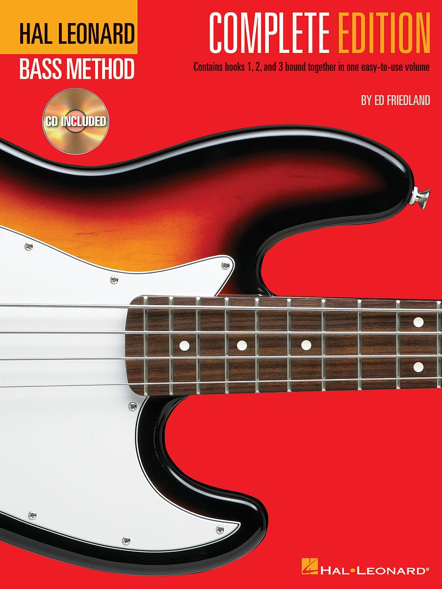 Hal Leonard Bass Method Complete Edition Book 1 to 3 & CD