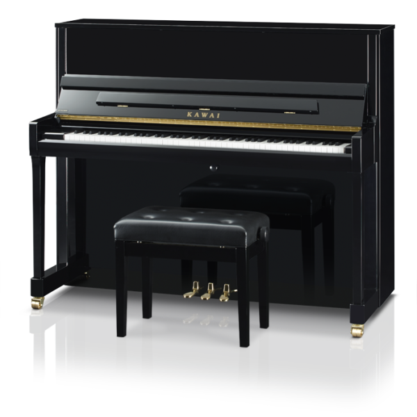 Kawai K300J Upright Piano Ebony Polish