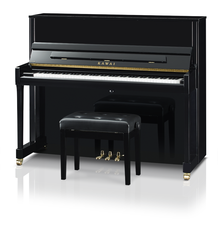 Kawai K300J Upright Piano Ebony Polish