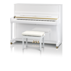 Kawai K300 Upright Piano White Polish