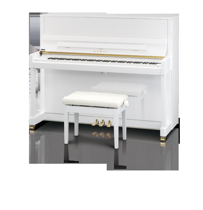 Kawai K300 Upright Piano White Polish