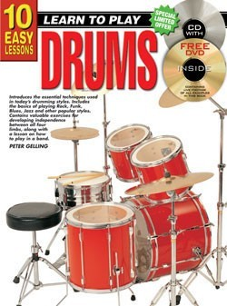 Progressive 10 Easy Lessons Learn To Play Drums
