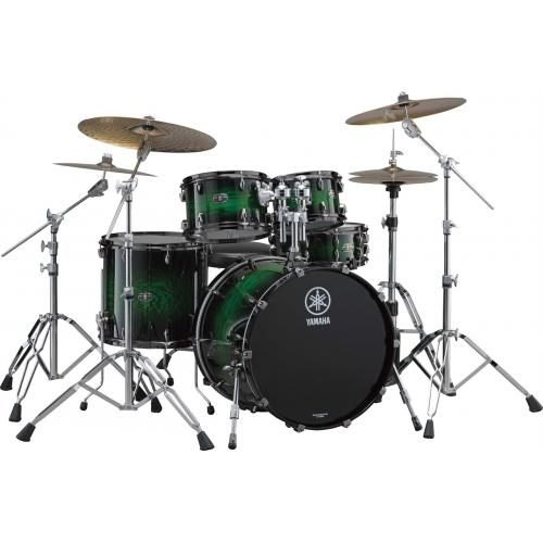 Yamaha Live Custom Drum Set Emerald Shadow Sunburst