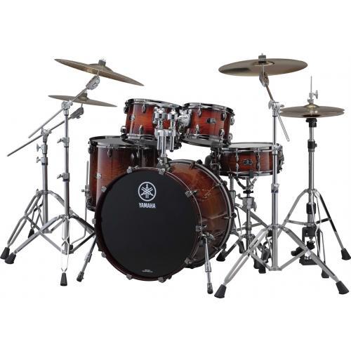Yamaha Live Custom Drum Set Amber Shadow Sunburst