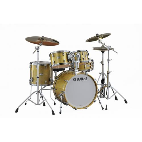 Yamaha Absolute Hybird Maple Drum Set Gold Champagne Sparkle