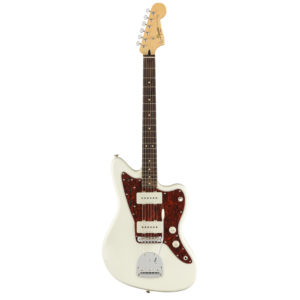 squier vintage modified jazzmaster electric guitar - olympic white